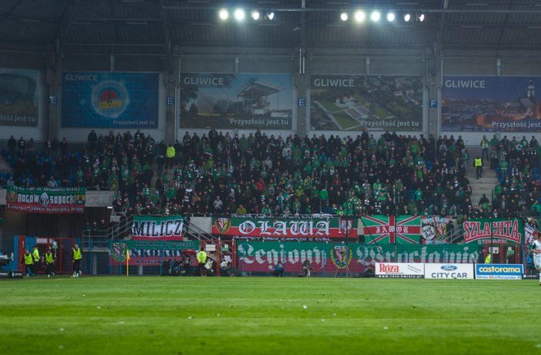 3 maja 2014r. Piast Gliwice - Śląsk Wrocław 0-0. Sektor Fanatyków Śląska w Gliwicach.