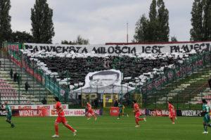 18 września 2010r. Widzew Łódź - Śląsk Wrocław 5-2. Oprawa dla ŚP Rolika.