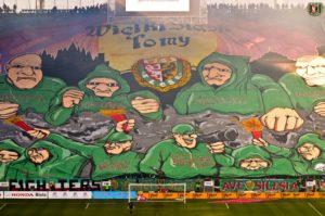 2012.10.28. WKS Śląsk Wrocław - Zagłębie Lubin 0-2. Oprawa WIELKI ŚLĄSK TO MY!log