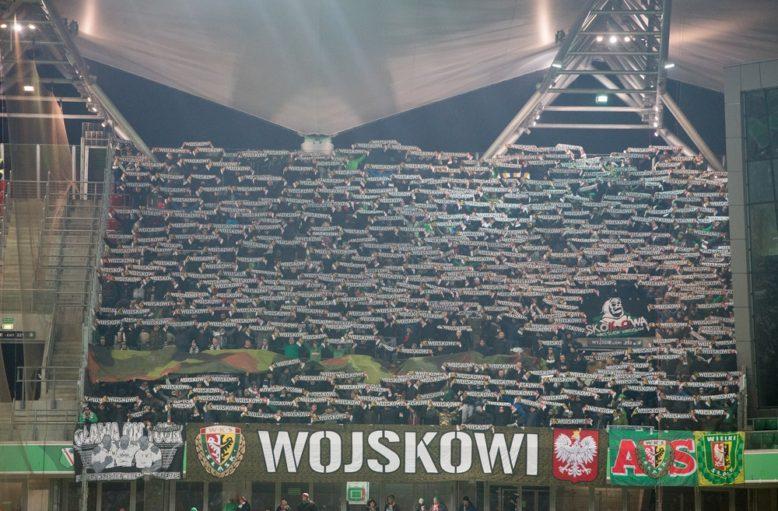 Kibice Śląska w Warszawie