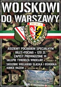 Plakat na wyjazd do Warszawy