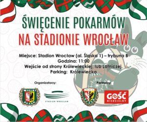 Święcenie pokarmów na Stadionie Wrocław