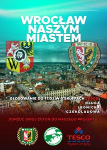 """Plakat projektu """"Wrocław Naszym Miastem"""""""